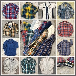 Bundle of 11 Boys dress shirts